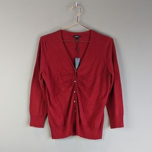 Talbot's | Red Wool Blend Button Front Cardigan M